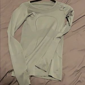 Olive swiftly tech long crew neck